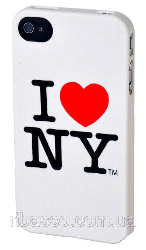 "BENJAMINS Крышка для Iphone 4S ""Ny Logo"", белая"