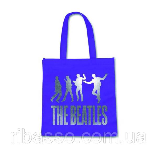 """Rock Off Сумка для покупок """"The Beatles"""", лиловая"""