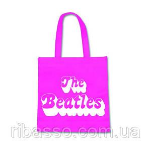 """Rock Off Сумка для покупок """"The Beatles"""", розовая"""