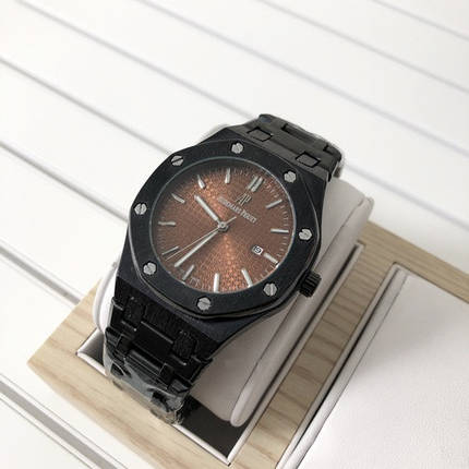 Наручные часы Audemars Piguet Royal Oak Quartz Black-Brown, фото 2