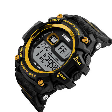 Оригинальные наручные часы Skmei 1229 Black-Gold | Оригинал Скмей, Гарантия 1 год!, фото 2