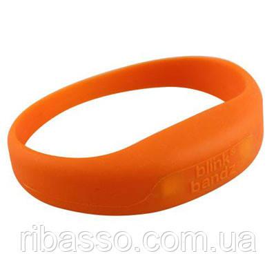 """OOTB Браслет силиконовый """"Яркие блики"""", оранжевый"""