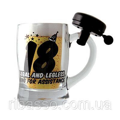 "Boxer Кружка для пива ""18"" черная"