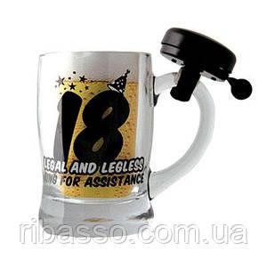"""Кружка для пива """"18"""" черная"""