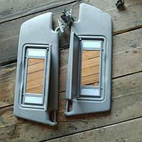 Козырьки солнцезащитные c подсветкой правый левый Opel Vectra C автозапчасти б\у