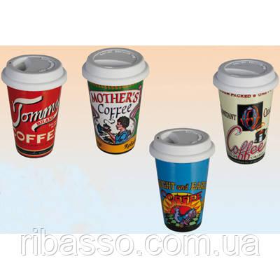 """Кружка """"Coffee Brand"""" с силиконовой крышкой"""