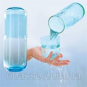 """Набор стаканов """"Сообщающиеся сосуды """", синий"""