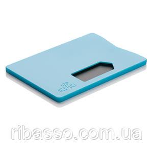 Холдер для кредитной карты Защита от считывания, голубой