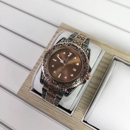 Наручний годинник Rolex SMT-Master II Silver-Cuprum-Brown, фото 2