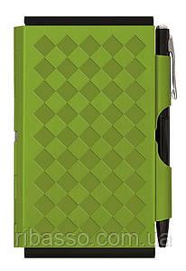 Troika Карманный блокнот с ручкой Diamond, зеленый