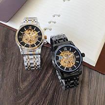Оригінальні наручні годинники Megalith 8205M Silver-Gold-Black | Оригінал Мегаліт, фото 3