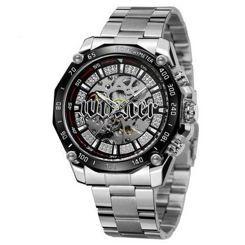 Оригинальные наручные часы Winner 8186 Big Diamonds Silver | Оригинал Виннер, Гарантия 1 год!