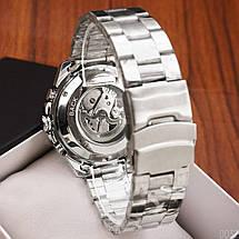 Оригинальные наручные часы Winner 8186 Big Diamonds Silver | Оригинал Виннер, Гарантия 1 год!, фото 3