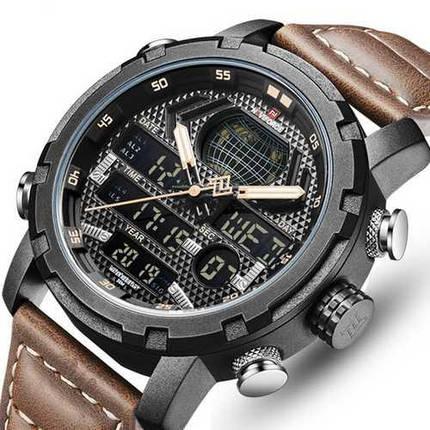 Оригинальные наручные часы Naviforce NF9160 Brown-Black | Оригинал Навифорс, Гарантия 1 год!, фото 2