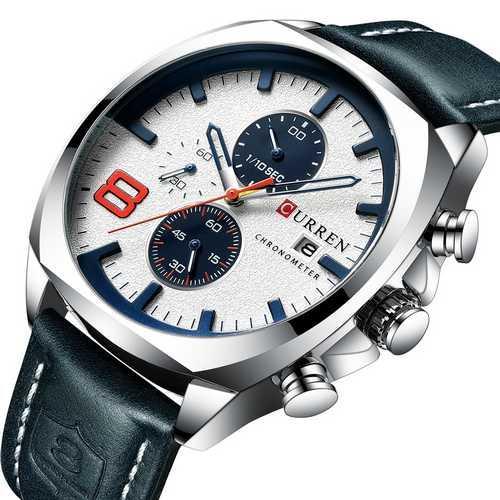 Оригинальные наручные часы Curren 8324 Silver-White | Оригинал Карен, Гарантия 1 год!