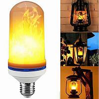 Лампа с эффектом пламени огня светодиодная LED Flame Bulb А+ E27 необычная лампочка пламя