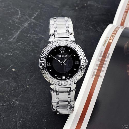 Наручные часы Versace 3103 Silver-Black | Копия Версаче