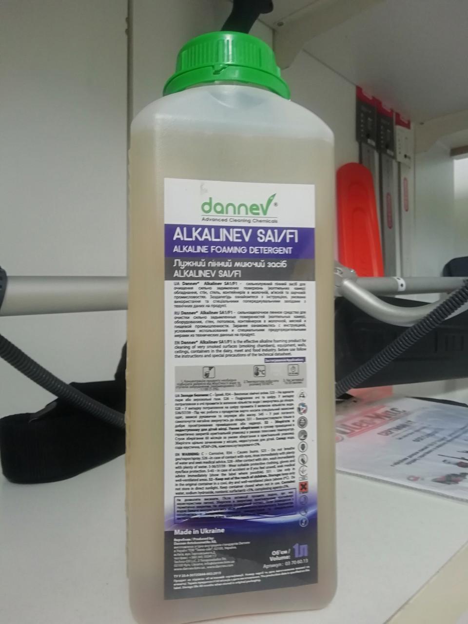 ALKALINEV SA1/f1 Пінний концентрат для чищення закопчених поверхонь 1 л DANNEV