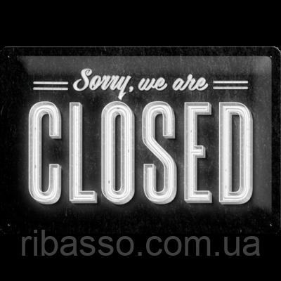 "Nostalgic Art Указатель ""Sorry, we are closed""  (22219)"