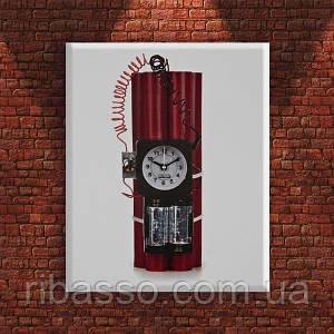 "Часы-картина ""Самодельная бомба"""