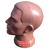 Манекен -Голова пластик Мужская,d-51см