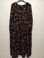 Красивое платье миди (oversize), L