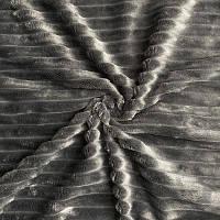 Чохол на кушетку плюшевый 220х80 см графит