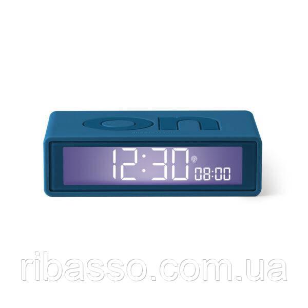 LEXON Будильник FLIP+ OFF/ON, резиновый/10,4*3*6,5 cm/темный синий