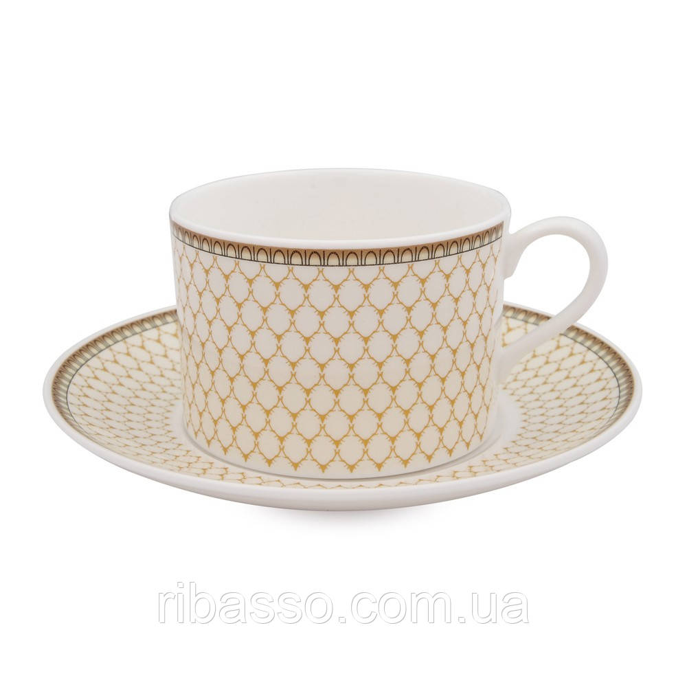 Чашка чайная с блюдцем Antler Trellis Ivory