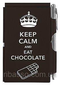 Troika Карманный блокнот с ручкой Keep calm chocolate
