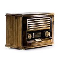 Daklin Ретро радио «Малыш» FM-радио, бамбуковый корпус