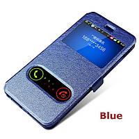 Кожаный чехол книжка для Lenovo K3 синий, фото 1