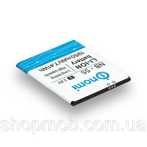 Аккумулятор для мобильного телефона Nomi NB-55/ i505 Характеристики AAAA, фото 2