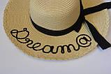 Женская шляпа с широкими полями летняя от солнца шляпка панамка пляжная, фото 6