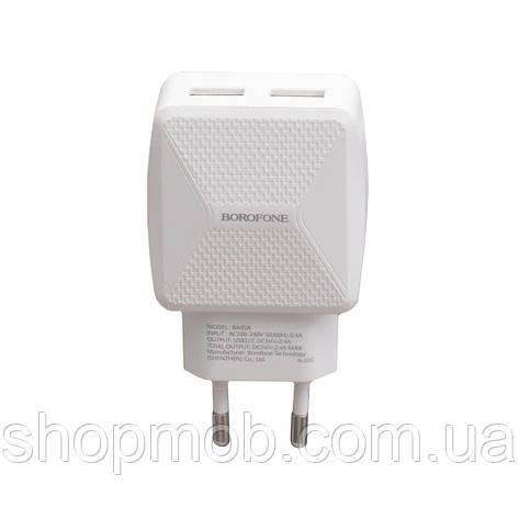 Сетевые зарядные устройства для телефонов Borofone BA45A Цвет Белый, фото 2