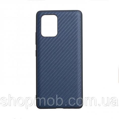 Чехол для телефонов смартфонов (под карбон) Carbon for Samsung S10 Lite 2020 Цвет Синий, фото 2