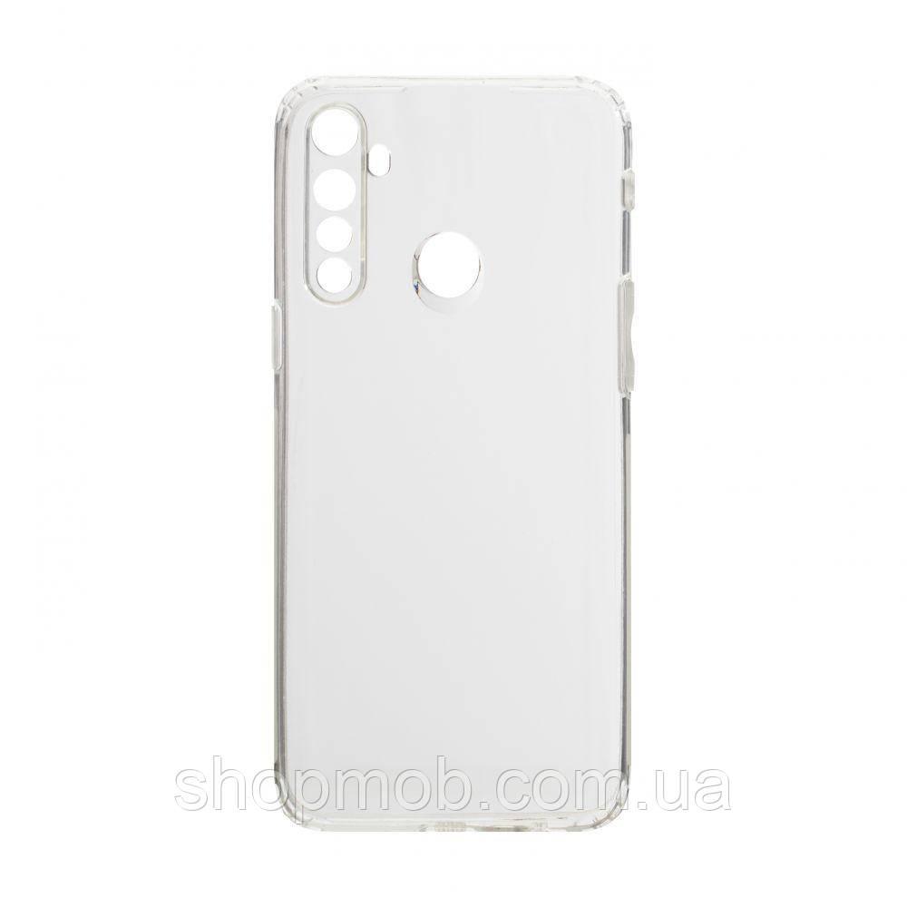 Чехол накладка для смартфонов (силикон прозрачные) KST for Realme 5/6i Цвет Прозрачный