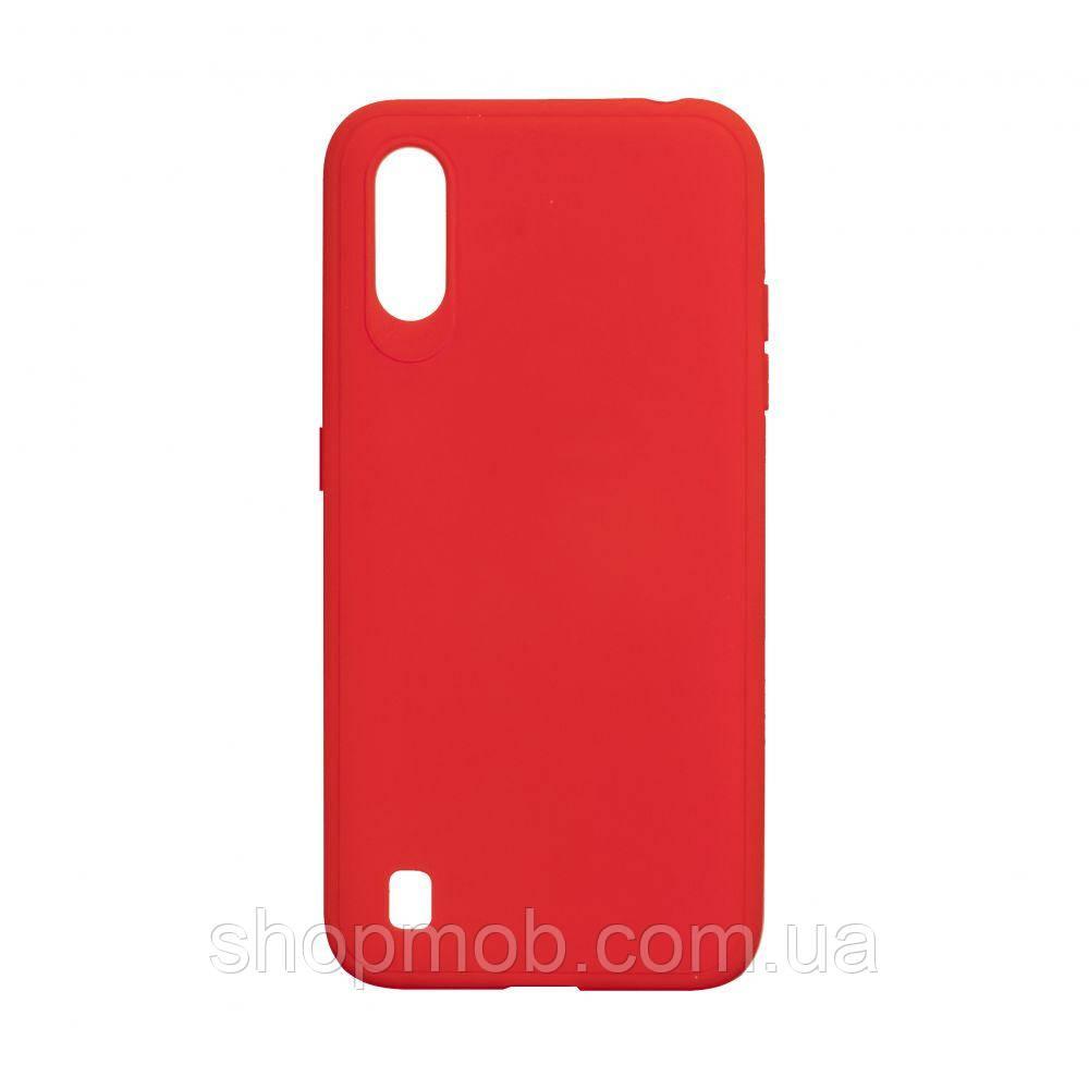 Чехол TPU Logo for Samsung A01 2019 Цвет Красный