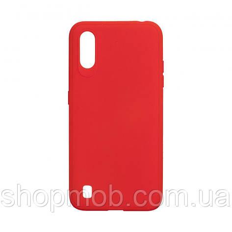 Чехол TPU Logo for Samsung A01 2019 Цвет Красный, фото 2