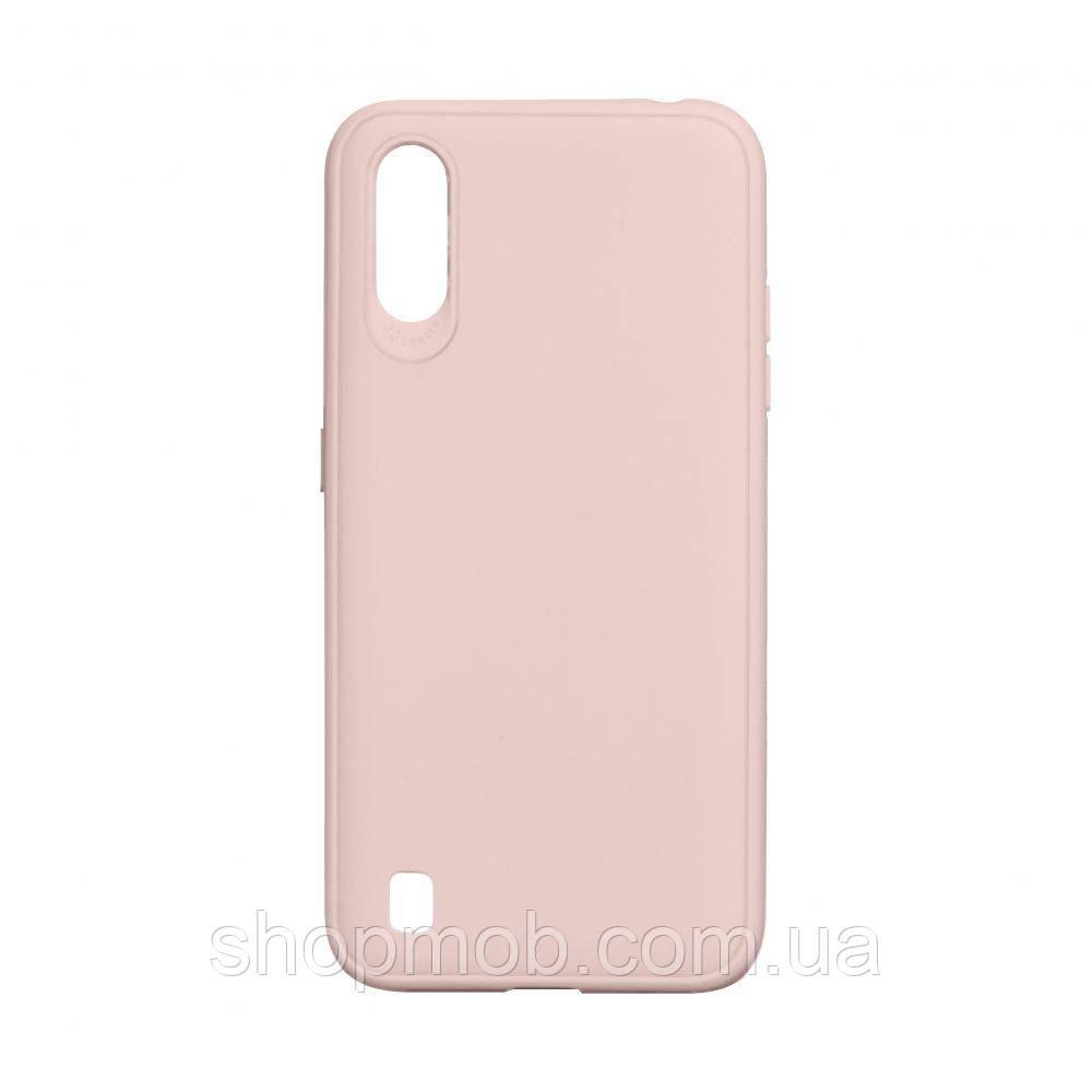 Чехол TPU Logo for Samsung A01 2019 Цвет Розовый