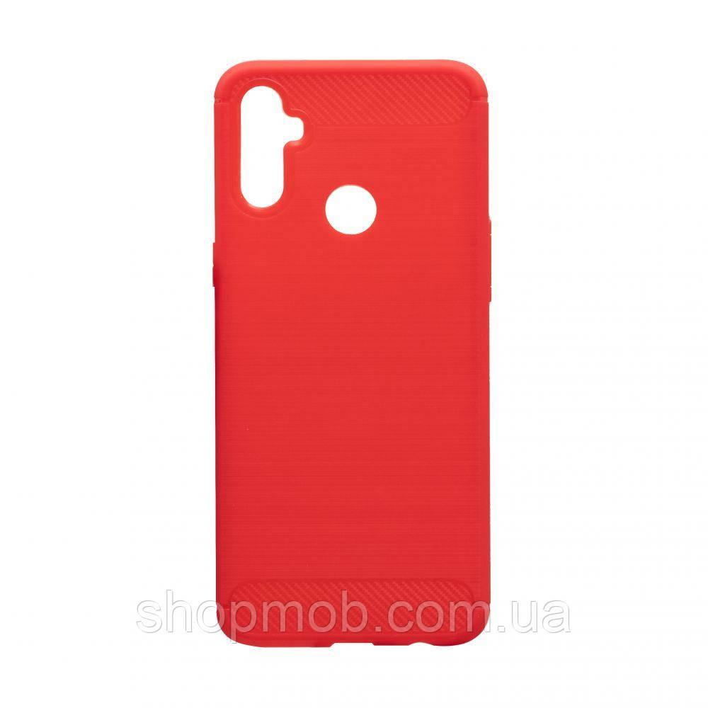 Чехол Polished Carbon Realme C3 Цвет Красный