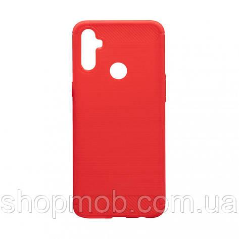 Чехол Polished Carbon Realme C3 Цвет Красный, фото 2