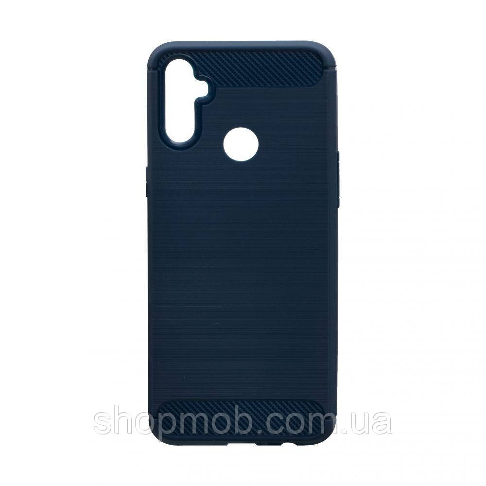 Чехол Polished Carbon Realme C3 Цвет Синий
