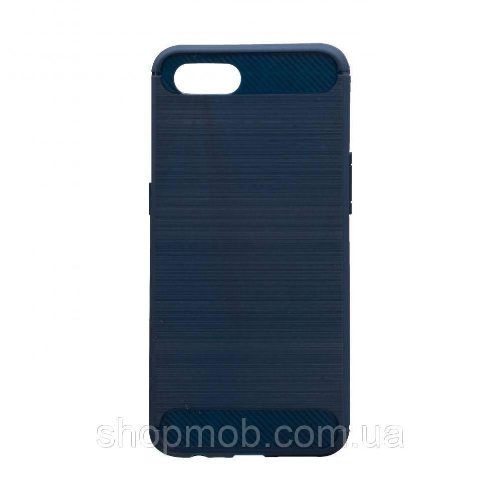 Чехол Polished Carbon Realme C2 Цвет Синий