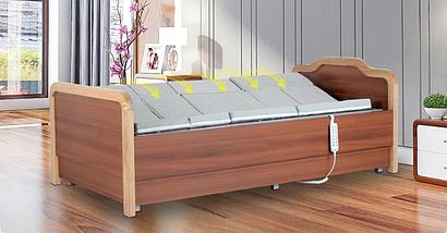 Медичне функціональне електро ліжко з туалетом і боковим переворотом Е101. Ліжко з регулюванням висоти ложа. Для інвалідів., фото 3