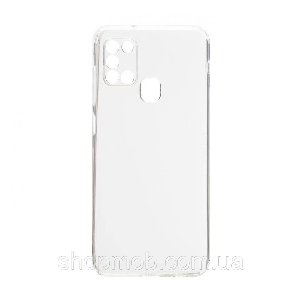 Чехол накладка для смартфонов (силикон прозрачные) KST for Samsung A21s 2020 Цвет Прозрачный