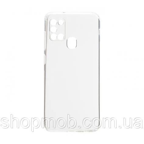 Чехол накладка для смартфонов (силикон прозрачные) KST for Samsung A21s 2020 Цвет Прозрачный, фото 2