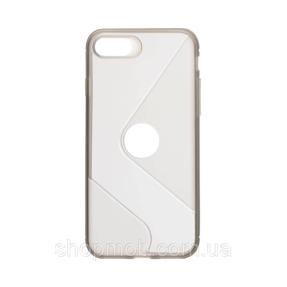 Чехол Totu Clear Wave for Apple Iphone 8/SE 2020 Цвет Чёрный