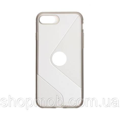 Чехол Totu Clear Wave for Apple Iphone 8/SE 2020 Цвет Чёрный, фото 2