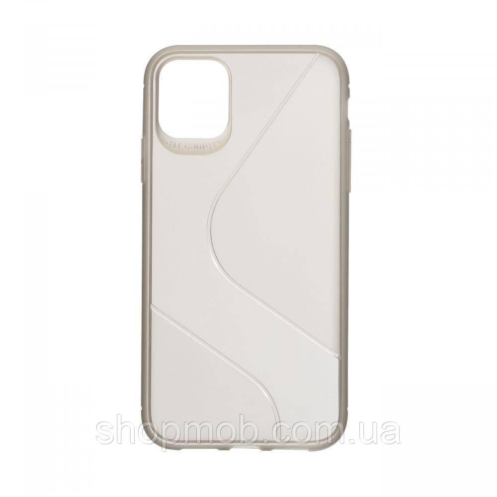 Чехол Totu Clear Wave for Apple Iphone 11 Цвет Чёрный